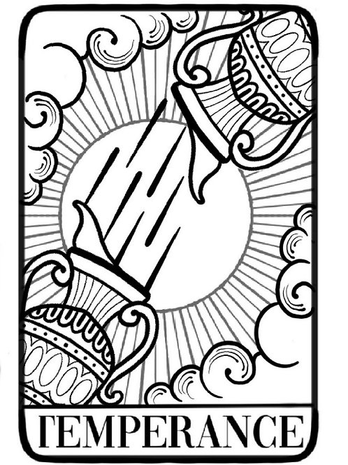 "Special Edition ""Temperance"" Tarot Card Tattoo"