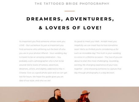 2020 Wedding Catalog: The Tattooed Bride Photography
