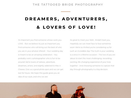2020 Wedding Catalog: The Tattooed Bride Photography