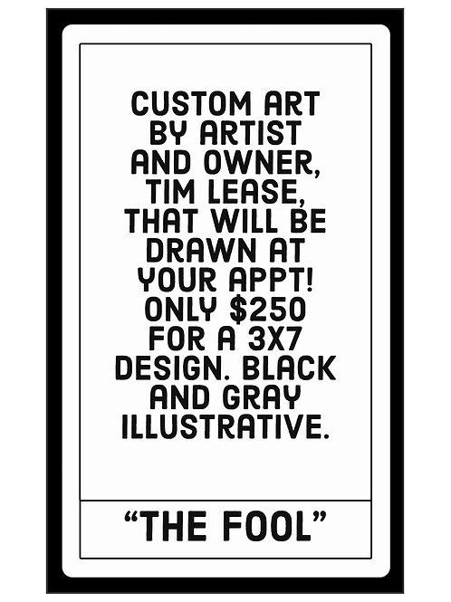 "Special Edition ""The Fool"" Tarot Card Tattoo"