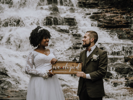 Waterfall Elopement in North Georgia