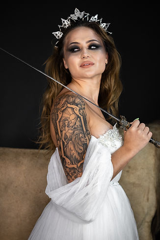 Strenght Tarot Card Photo by The Tattooed Bride Photography