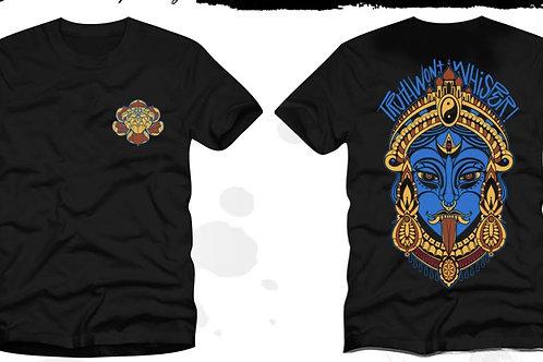 Kali and Lotus T-shirt  -  Scythe & Casket Apparel ©