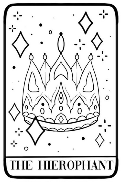 """Special Edition """"The Hierophant"""" Tarot Card Tattoo"""