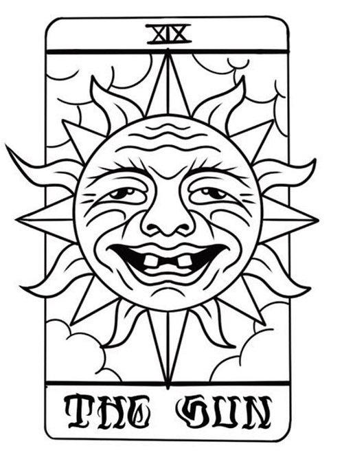 "Special Edition ""The Sun"" Tarot Card Tattoo"