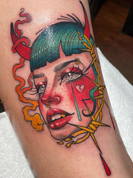 Fain Douleur Tattoo Artist at Golden Tarot Ink Club in Winter Park Orlando Florida