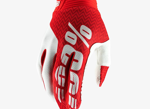 100% GLOVES ITRACK - RED/WHITE