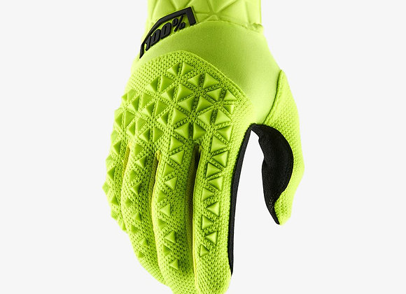 100% GLOVES AIRMATIC - FLUO YELLOW/BLACK