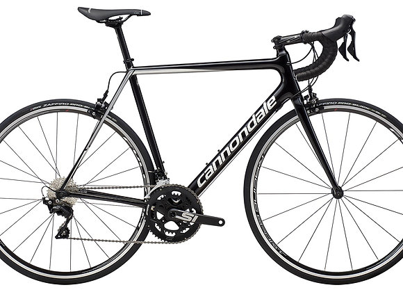 2019 Cannondale SuperSix EVO 105 - Black Pearl w / Fine Silver and Cashmere - Gl