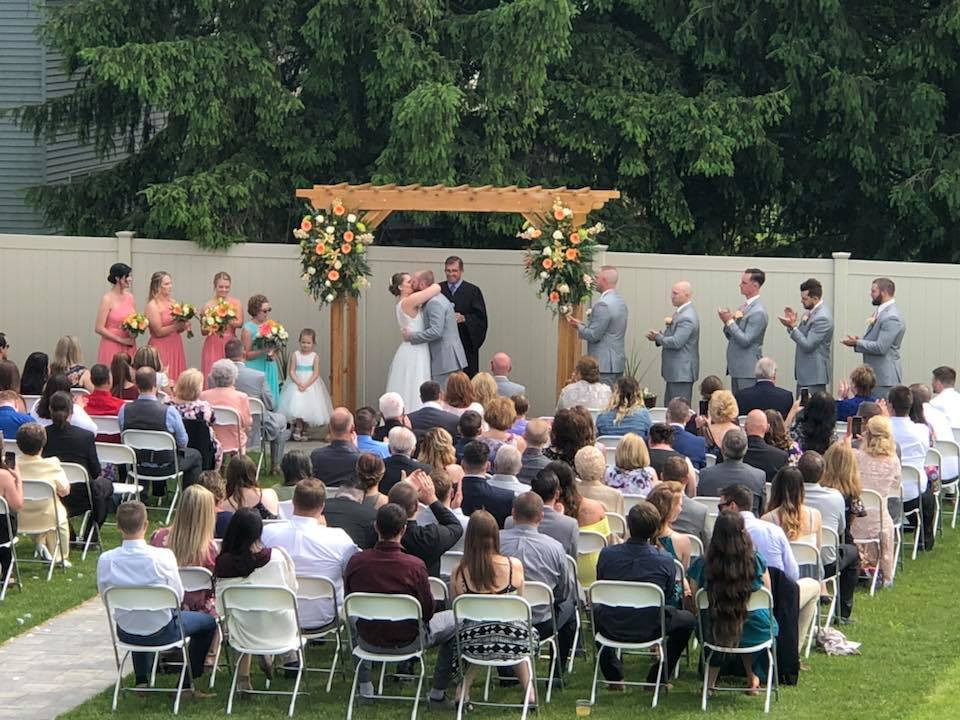 Wedding site at Shepherd Hills