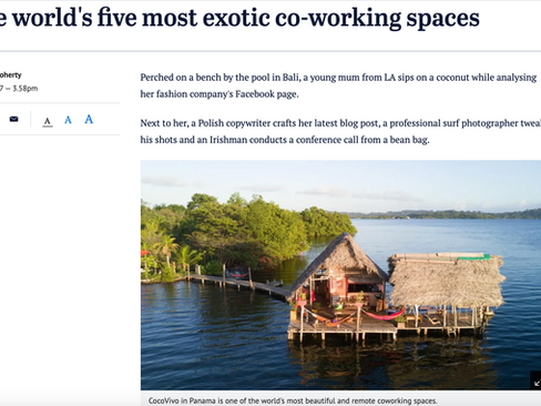 """The Sydney Morning Herald: """"The world's five most exotic co-working spaces"""""""