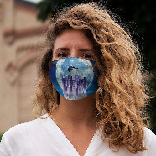 """Electric Kingdom"" Snug-Fit Polyester Face Mask"