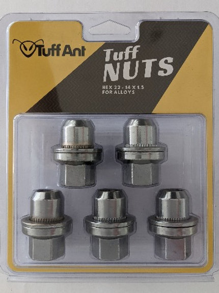 TuffNuts for Alloys - 14x1.5 (pack of 5)