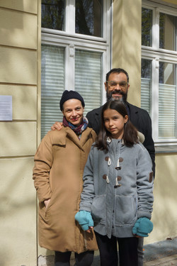 Sam Durant and Ana Prvacki and their daughter
