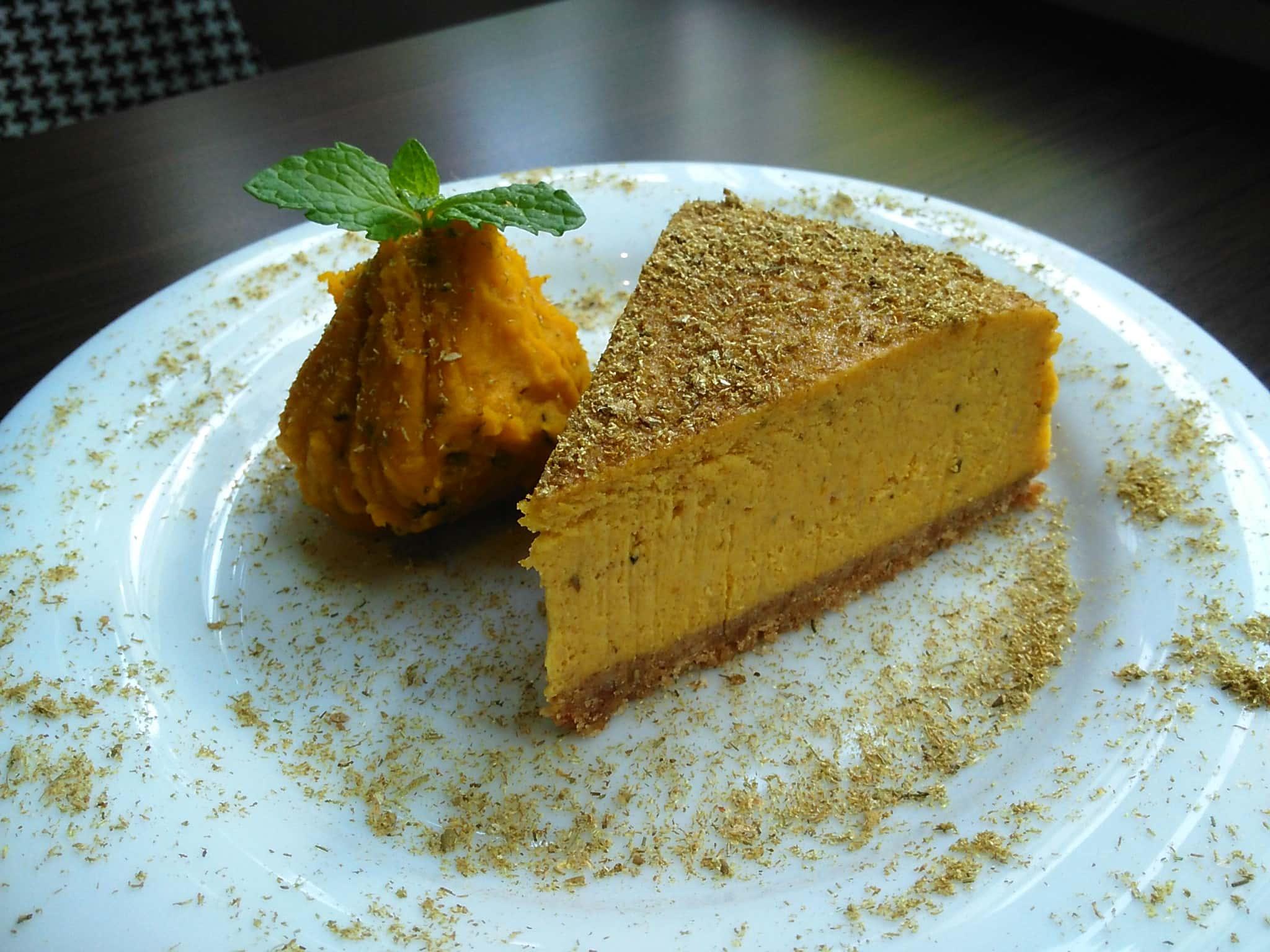 パンプキンカモミールベイクドチーズケーキ