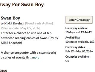 Win a proof copy of Swan Boy!