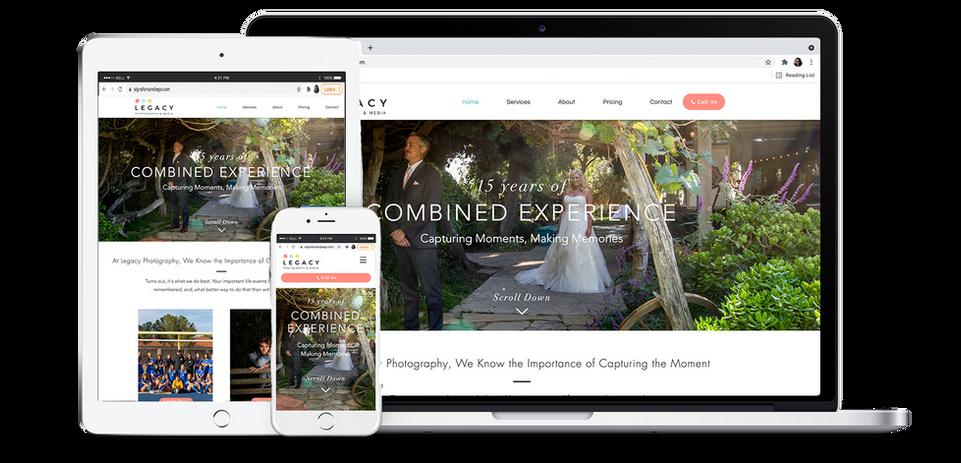 Legacy Photography & Media Website