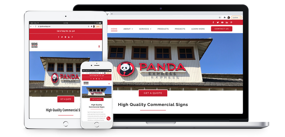 Signs For San Diego Company Website