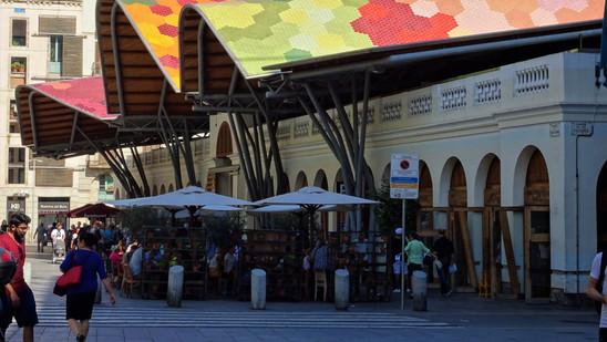 Mercado de Santa Caterina. Barcelona, España.