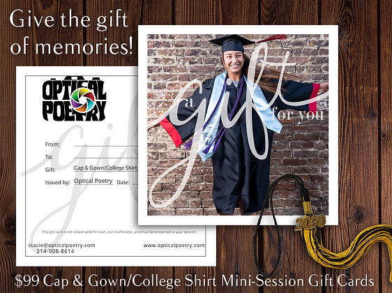 Cap & Gown Mini-Session Gift Certificate