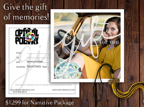 Narrative Package Gift Certificate