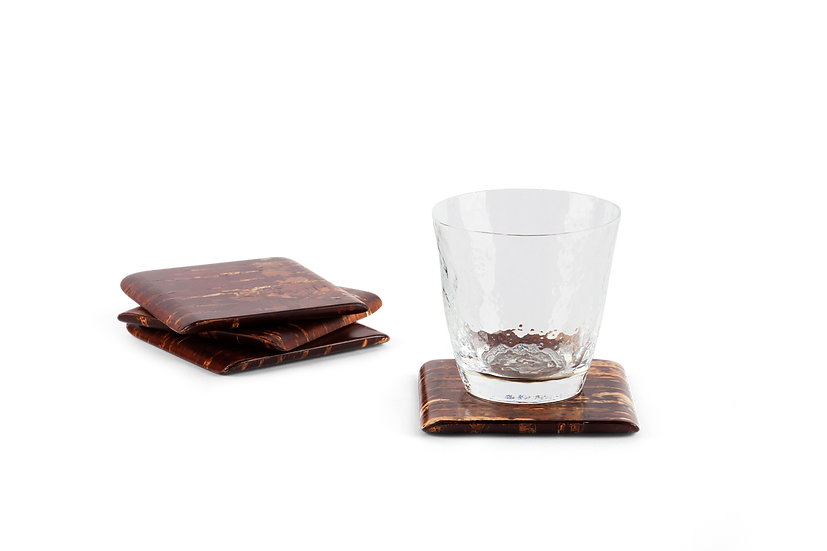 Traditional Japanese Natural Bark Coaster
