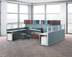 Workstations with Wood Storage and G