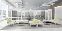Evolve Glass Tiled Offices and Lounge Se