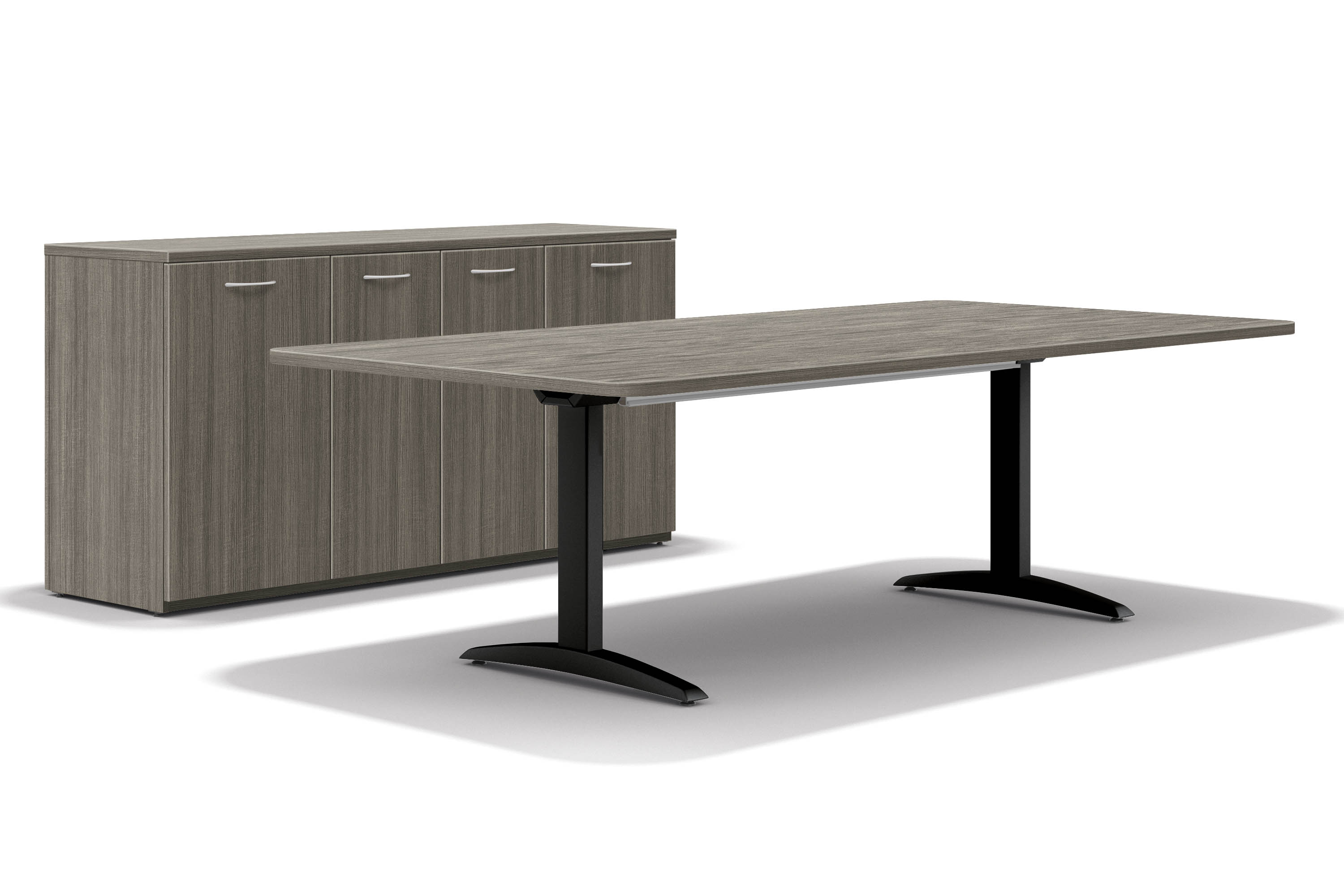 Hon T Leg Table with Credenza