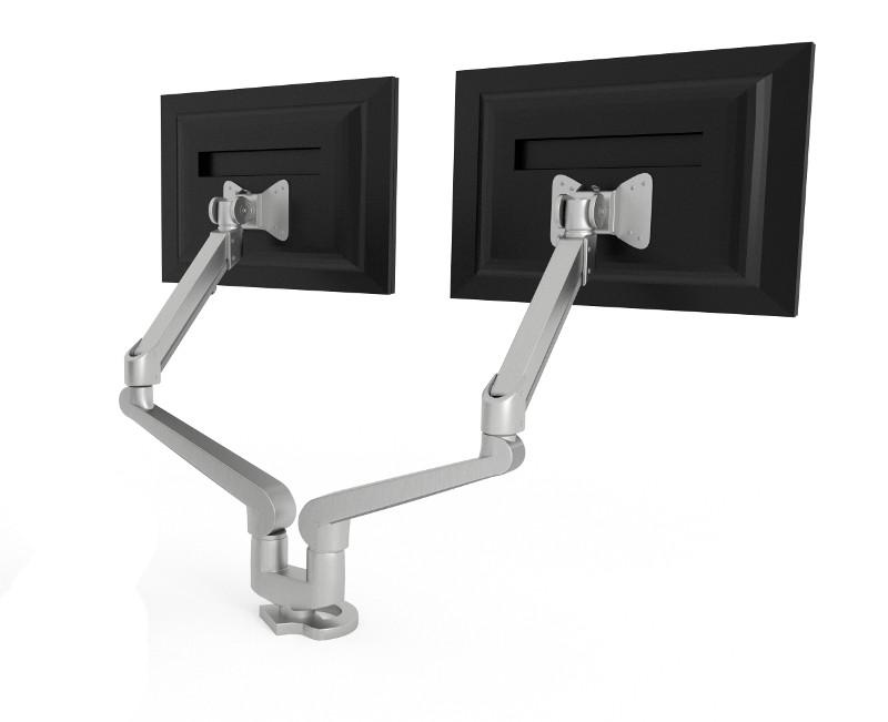 Hon Silver Monitor Arm Double