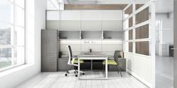Evolve Tiled Panels with Office Desk