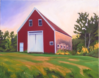 Red Barn Early Morning