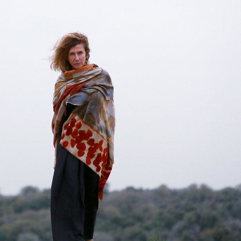 "Cloth of protection  - ""Atufa""  X-Large Boro virgin wool wrap"