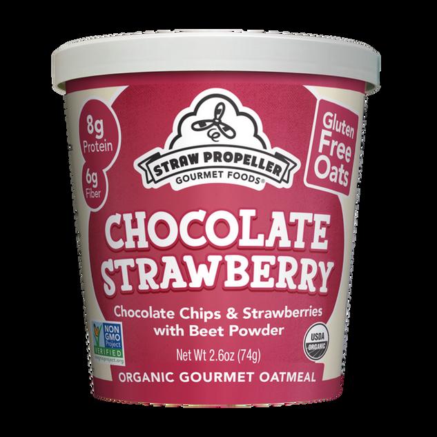 Veggie Chocolate Strawberry Oatmeal