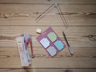 Gladys' favorite tools for working with the six month calendar
