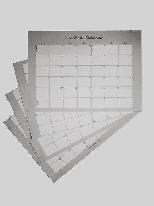 Six-Month Calendar Starter Bundle January - June 2021
