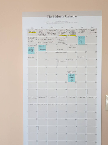 Ilze's calendar