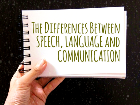 Speech vs Language vs Communication