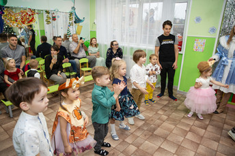 Новогодний утренник в частном детском саду Bambini