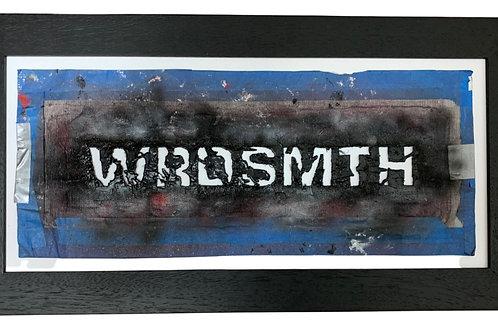 WRDSMTH Original Hand-Cut Signature Stencil (black frame)