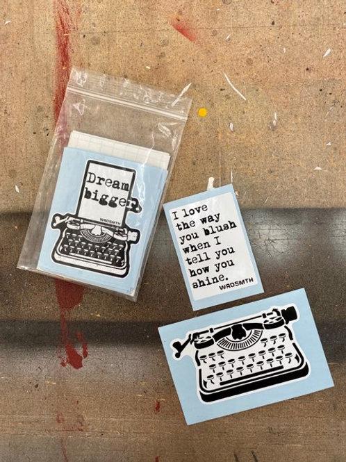 Original WRDSMTH Sticker Pack (set of 24)