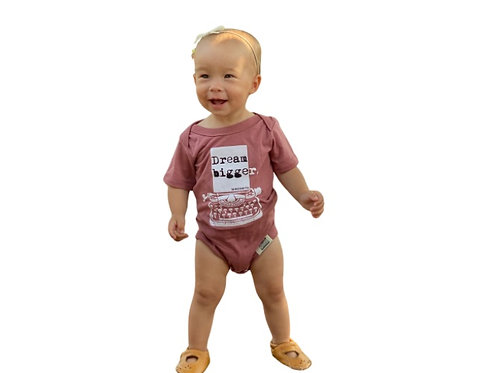 Dream Bigger Baby Onesie (Mauve)