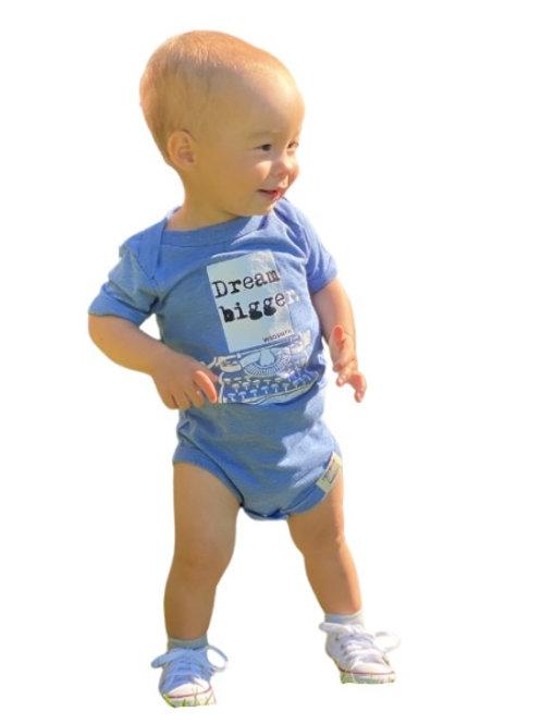 Dream Bigger Baby Onesie (Blue)