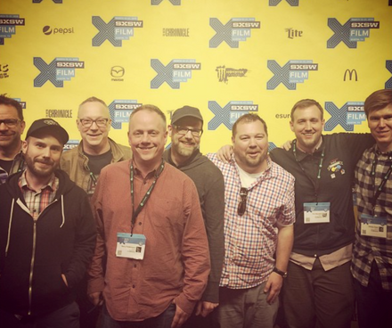 The premiere of RAIDERS! at SXSW. With the editors and directors.