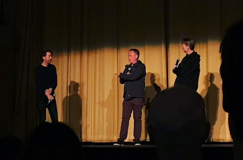 Chris Smith and Barry Poltermann doing a Q&A for JIM & ANDY at the San Francisco Film Festival