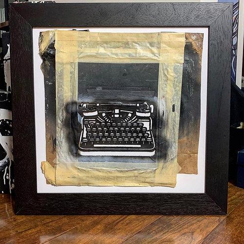 "'November/December 2013' original ""WRDSMTH"" typewriter stencil (framed)"