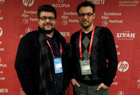 Michael Vollmann directed THE 414s and Chris Thompson produced. Here they are at the Sundance premiere.