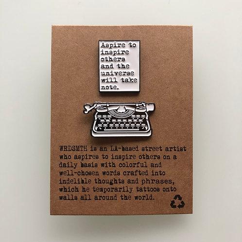 Aspire Pin Set - Page + Typewriter