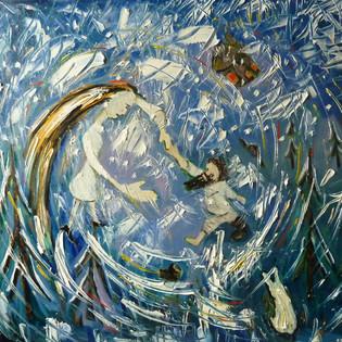 A man dances with a snowstorm, un vortice da brivido