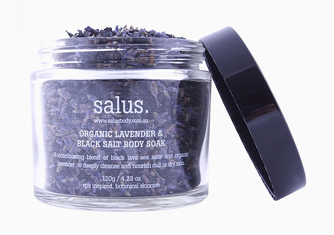 Salus | Organic Lavender & Black Salt Body Soak 120g